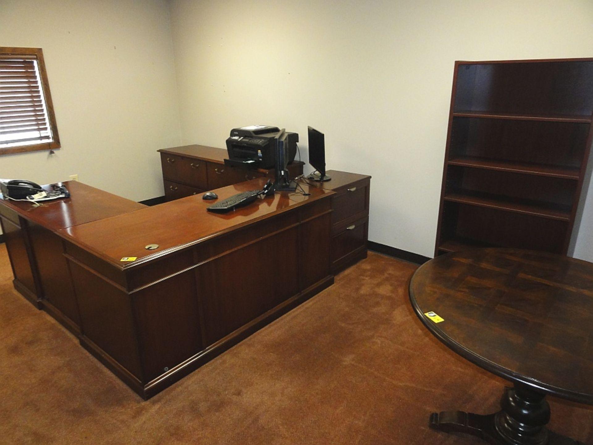 Lot 645 - Executive Desk w/ Return, Cradenza & 2 Bookcases