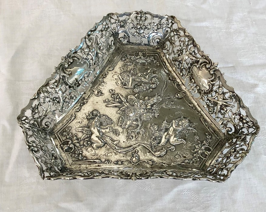 Lot 2 - Antique continental ornate silver dish