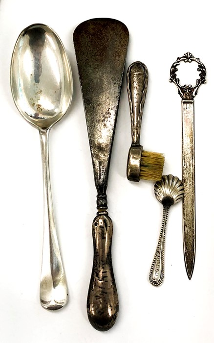 Lot 24 - selection of silver items weighable silver 85g