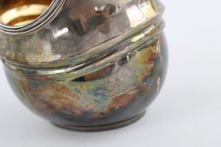 Lot 54 - Vintage hallmarked 1929 London Sterling Silver cream jug with gilded interior