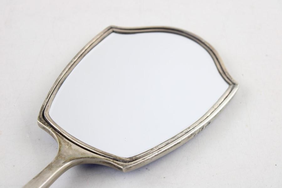 Lot 47 - 2 x Vintage Hallmarked .925 silver Ladies Vanity Brush & Mirror (302g) Items are in vintage conditio