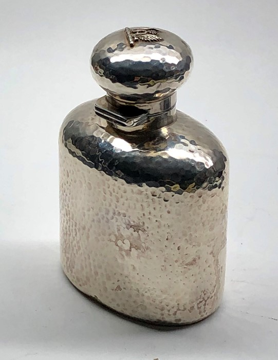 Lot 29 - Antique silver brandy flask london silver hallmarks drew & sons piccadilly circus measures approx he