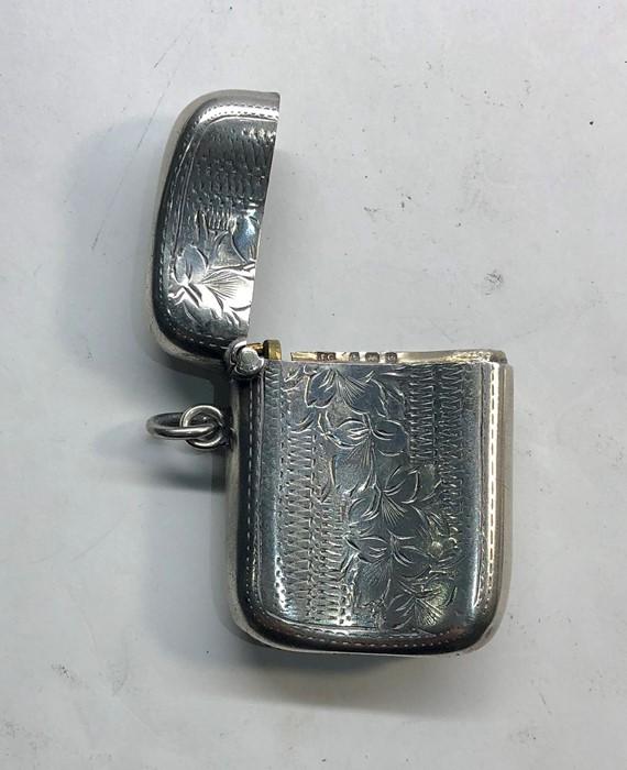 Lot 39 - Antique silver match / vesta case Birmingham silver hallmarks