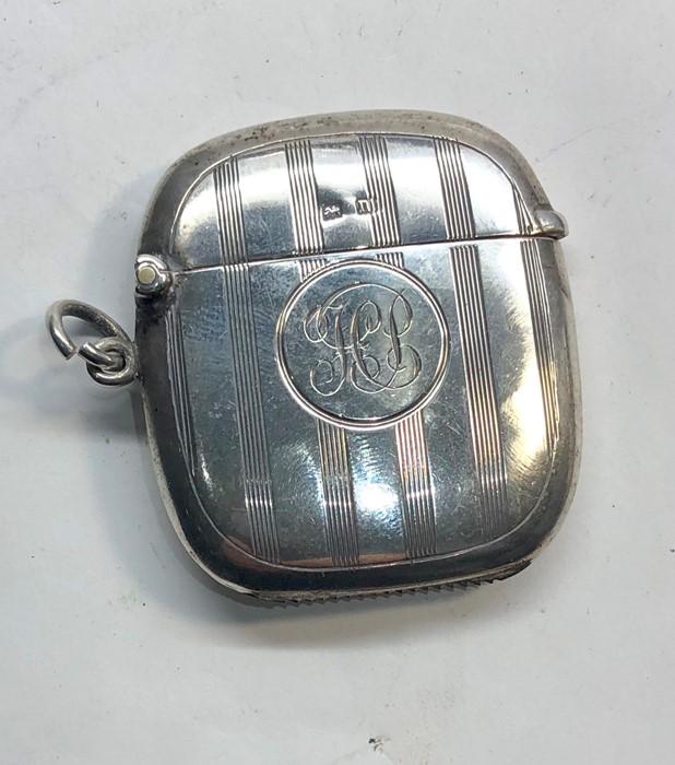 Lot 38 - Antique silver match / vesta case Birmingham silver hallmarks