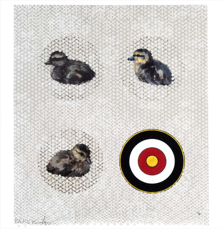 Lot 18 - Charming Baker (British b.1964), 'Sitting Ducks', 2017