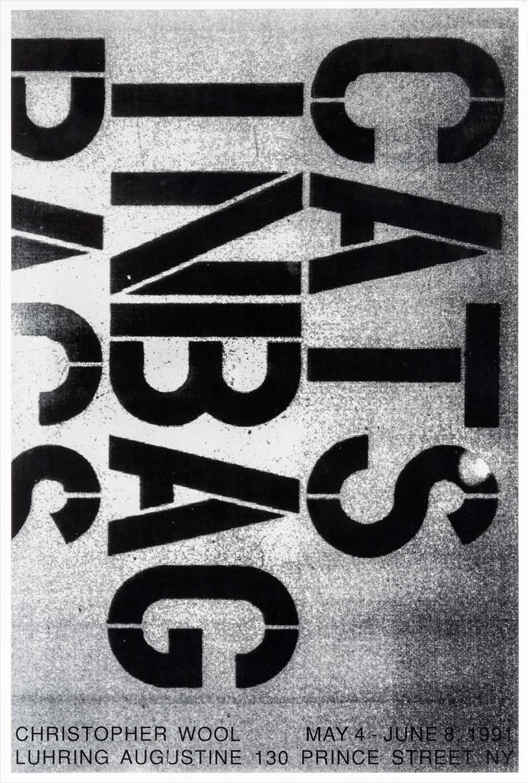 Lot 27 - Christoper Wool (American b.1955) , 'Cats In A Bag', 1991