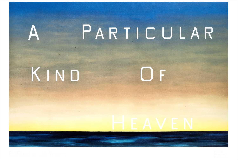 Lot 56 - Ed Ruscha (American b.1937), 'A Particular Kind Of Heaven', 1983