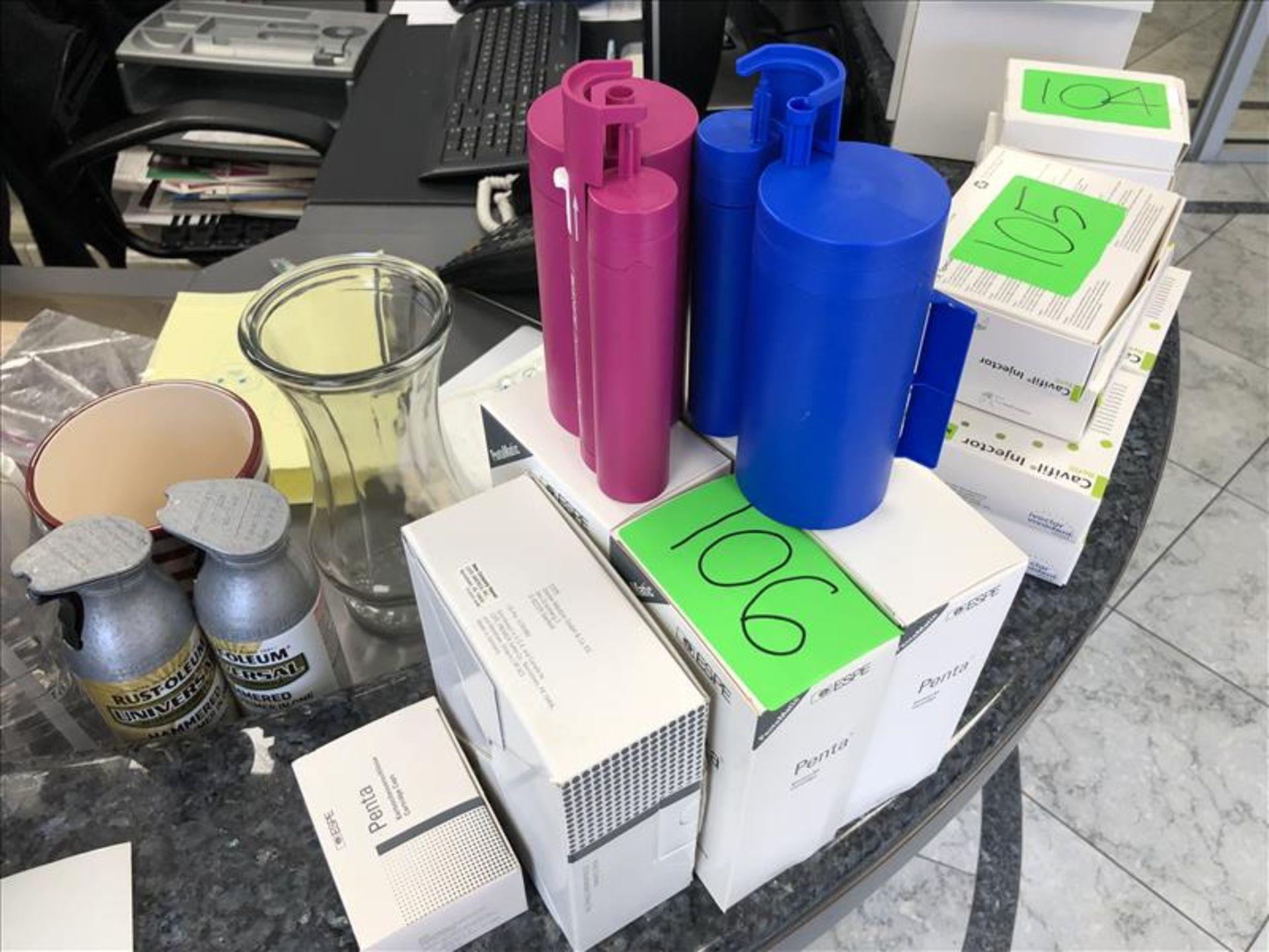 Lot 106 - Espe PentaMatic cartridges, including Permadyne penta dunn -07787, 077861, Penta mixing tips -03162,