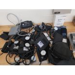 LOT OF VARIOUS SPHYGMOMANOMETERS AND CUFFS INCLUDING OMRON