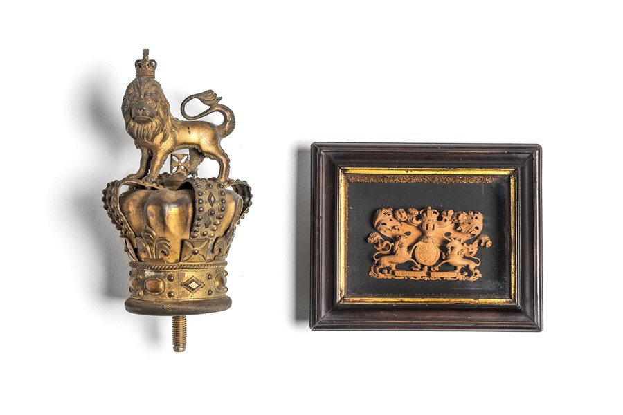 Lot 57 - A miniature Hanoverian Royal Coat of Arms