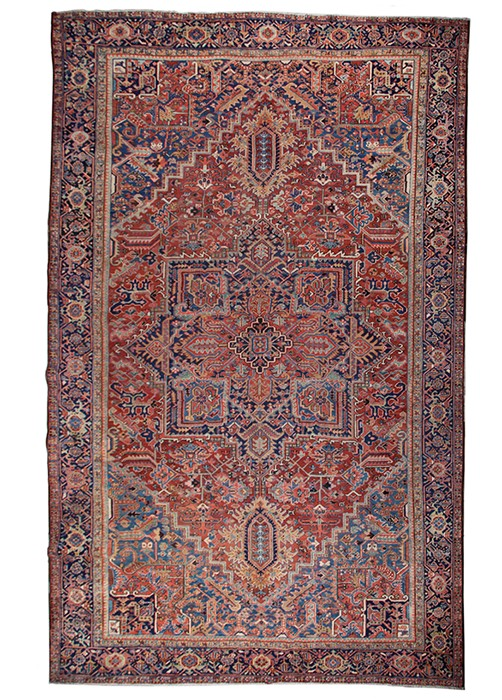 Lot 35 - A Heriz carpet, North West Persia, circa 1900