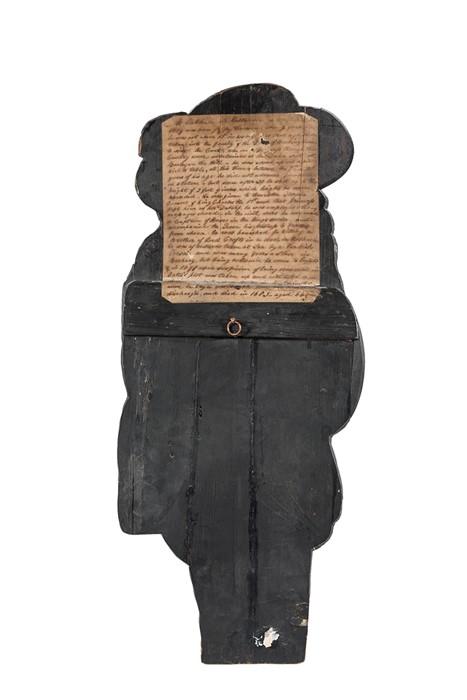 Lot 14 - A polychrome pine dummy-board depicting Jeffry Hudson, 19th century