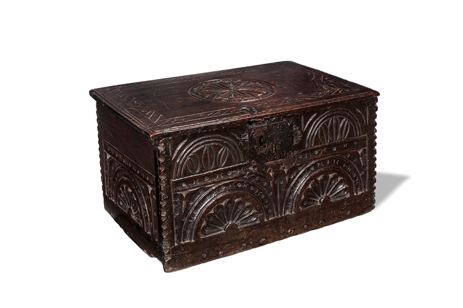 Lot 26 - A Charles II oak box