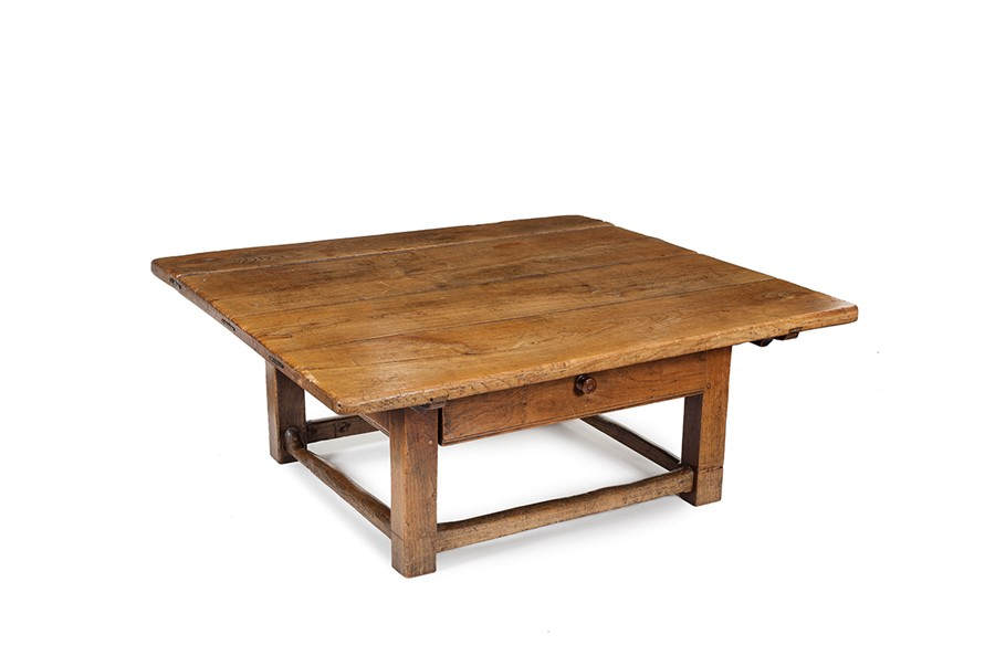 Lot 29 - A large cherrywood low table, probably Austrian, 18th century