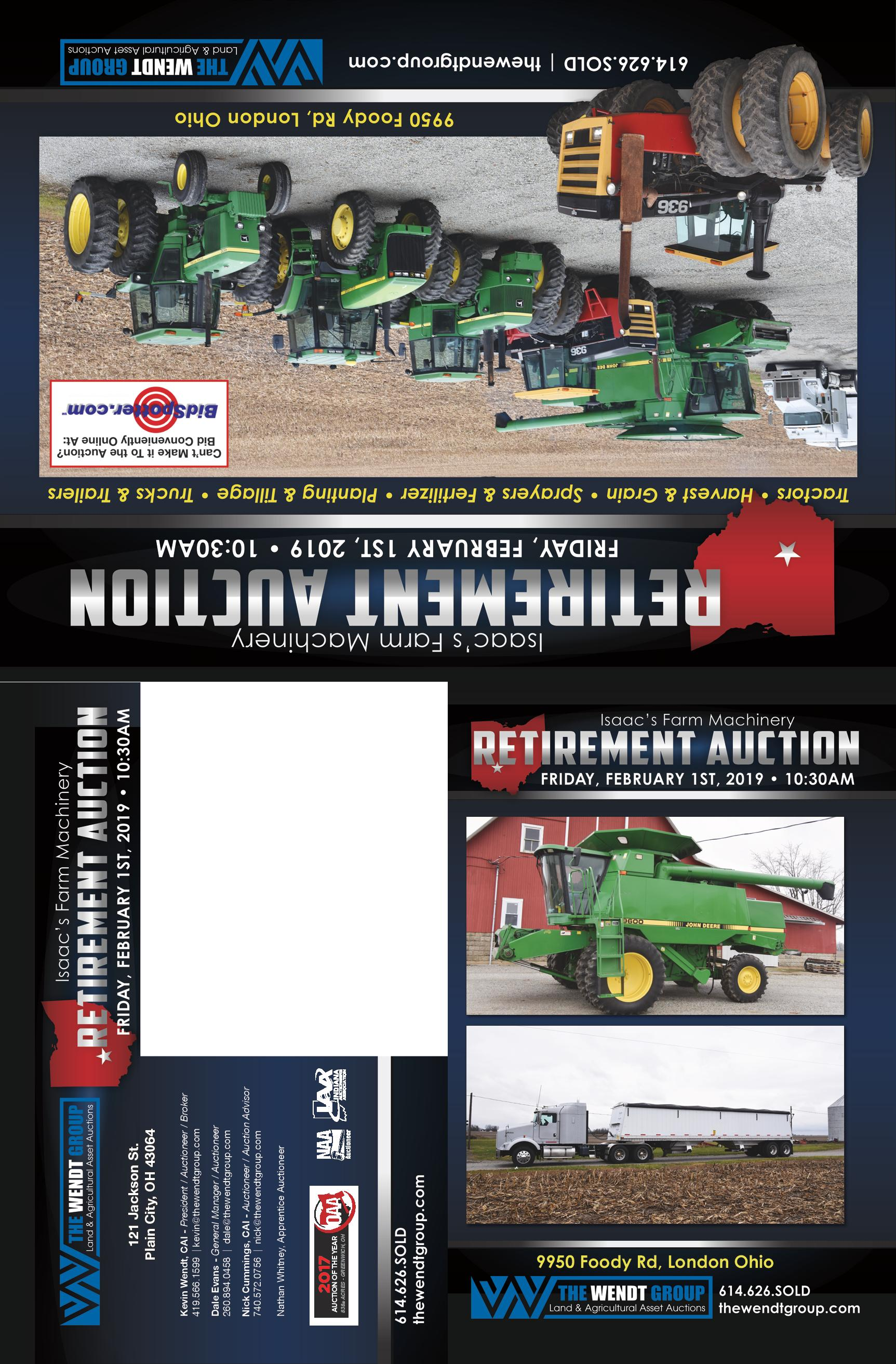 Isaacs Farm Machinery Retirement Auction
