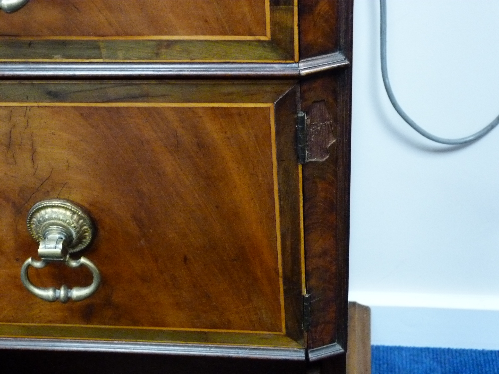 Lot 330 - Pair of George III mahogany wine cisterns, on cupboard stands, the cisterns formed as urns with