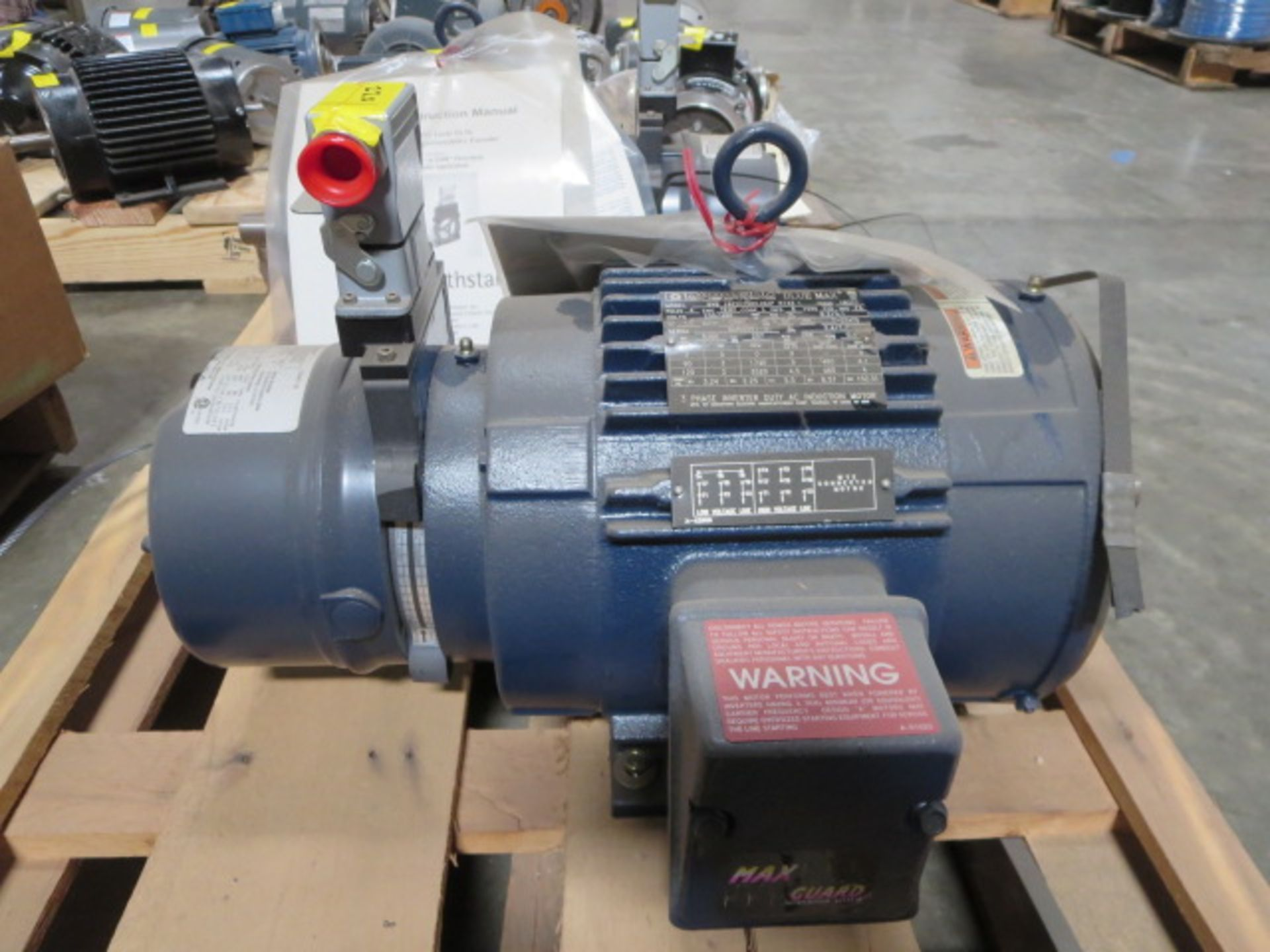 Lot 220 - Marathon Blue Max Inverter Duty Motor, 3 Phase, 120Hz, model BVB 182THTS8048AP