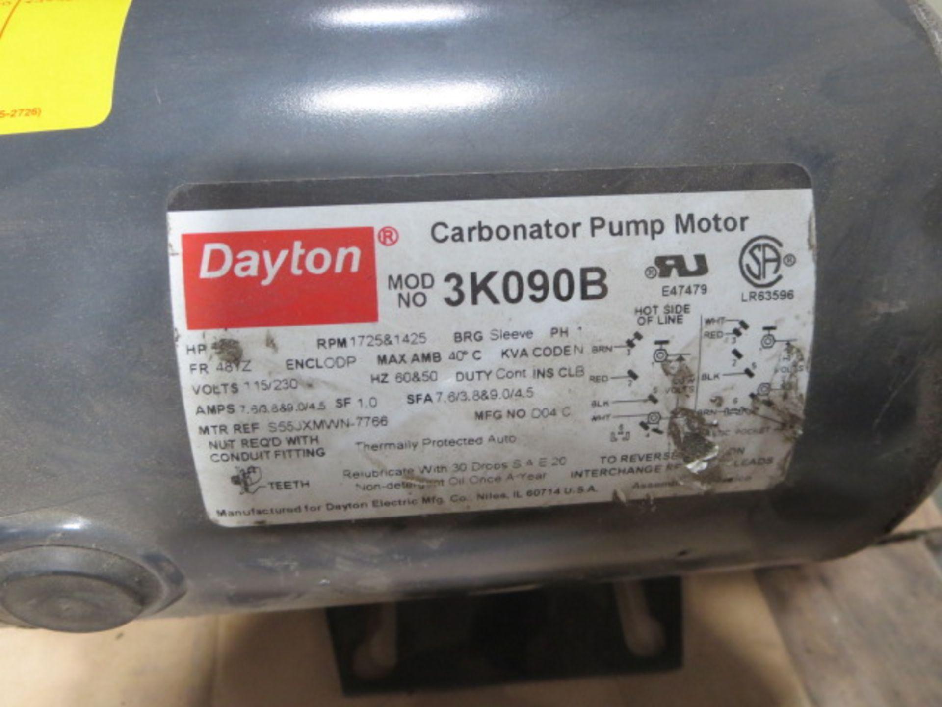Lot 244 - Dayton Carbonator Pump Motor, Single Phase, 60Hz