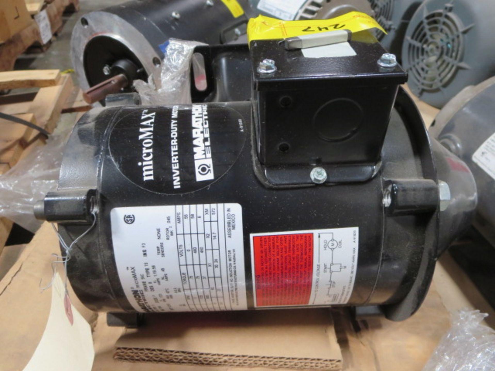 Lot 247 - Marathon Micro Max Inverter Duty Motor, 3 Phase, 120Hz, model FVN 56H17T2001 K