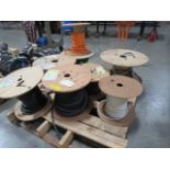 Lot 218 - Lot of Partial Spools of Assorted Wires, Contents of Pallet