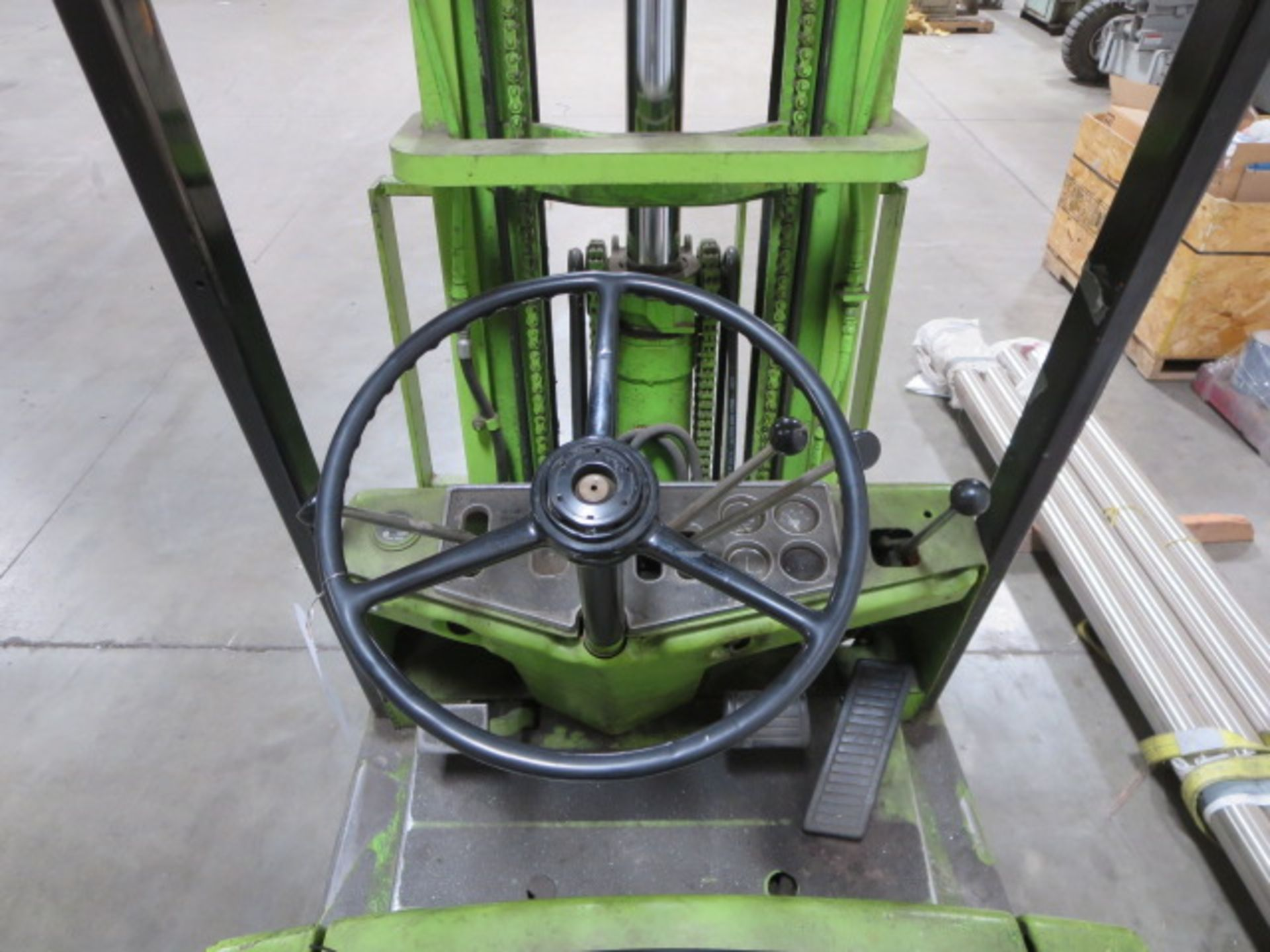 """Lot 611 - *DELAYED PICKUP* Clark LP Forklift, Orops, 3 Stage Mast, Side Shift, 3392HOS, 41""""L x 4""""W Forks,"""