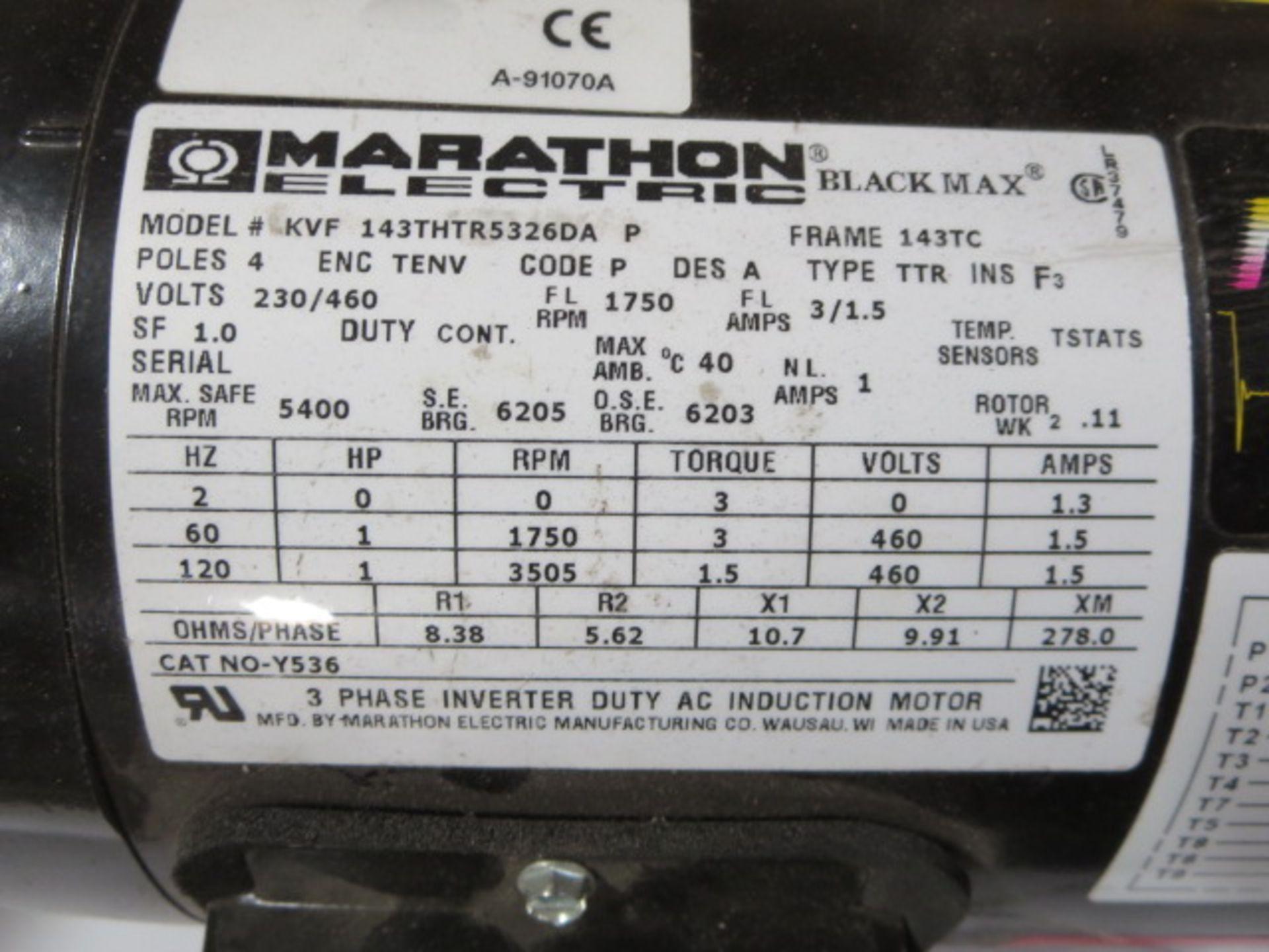 Lot 16 - Marathon Black Max Inverter Duty AC Induction Motor, 3 Phase, 120Hz, model KVF143THTR5326DA P