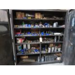 Lot 343 - Lot of Assorted Punches & Dies, with 2 Door Metal Storage Cabinet