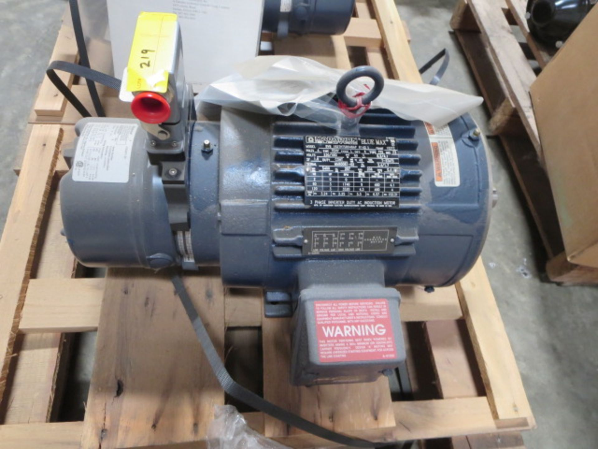 Lot 219 - Marathon Blue Max Inverter Duty Motor, 3 Phase, 120Hz, model BVB 182THTS8048AP