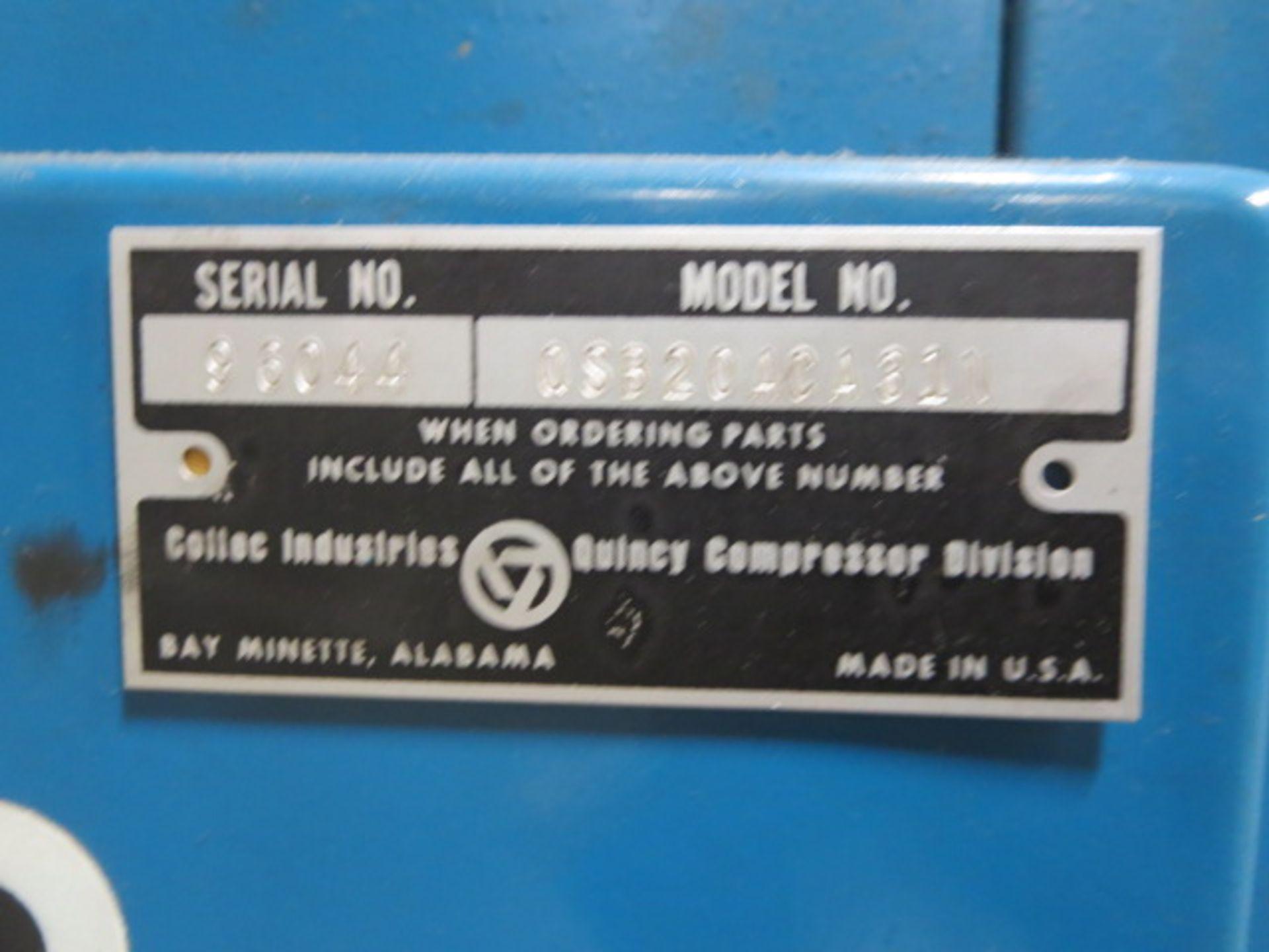 Lot 642 - Quincy Industrial Air Compressor, model QSB20ACA31N, sn 96044, 57304Hrs