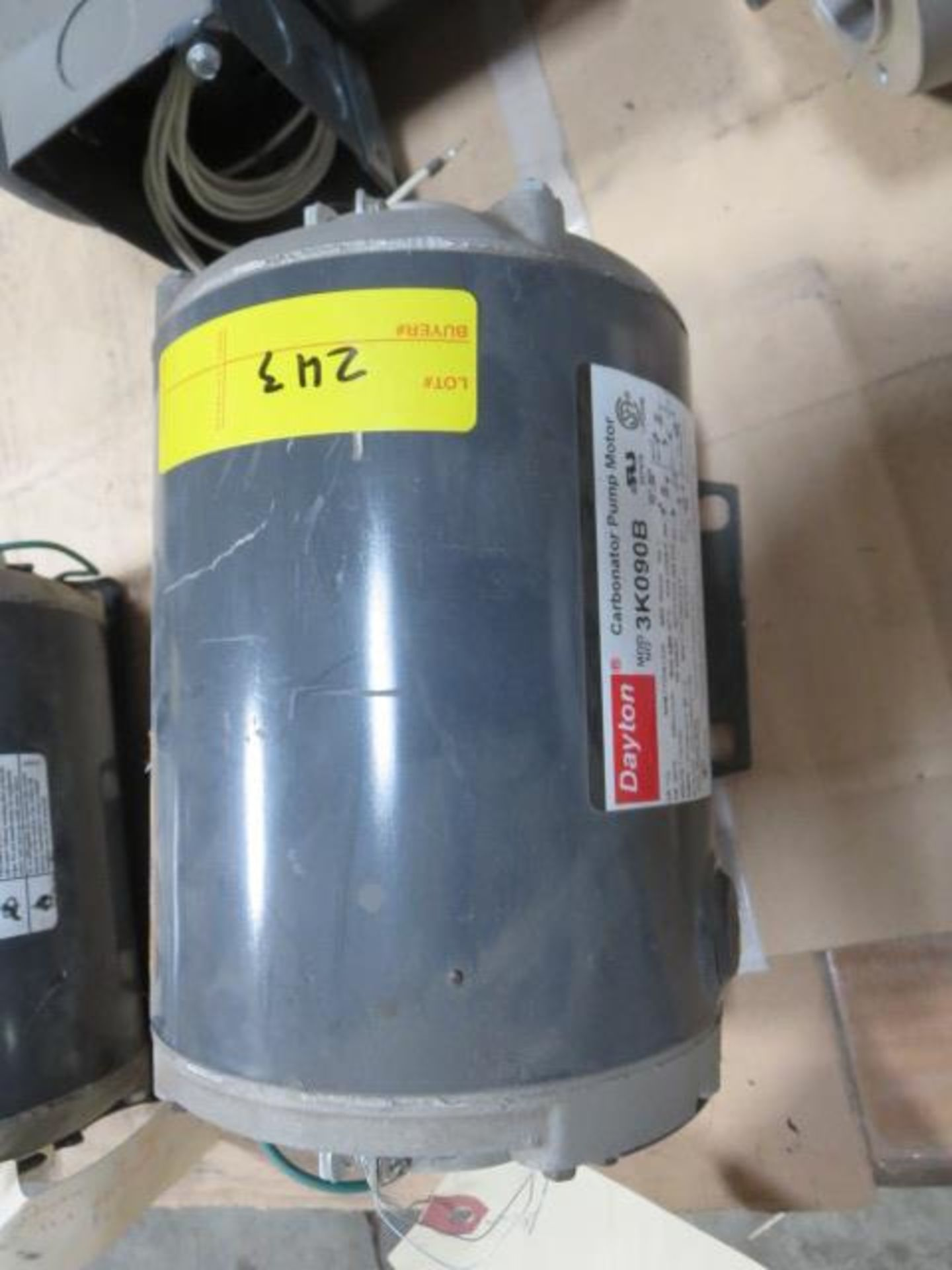 Lot 243 - Dayton Carbonator Pump Motor, Single Phase, 60Hz