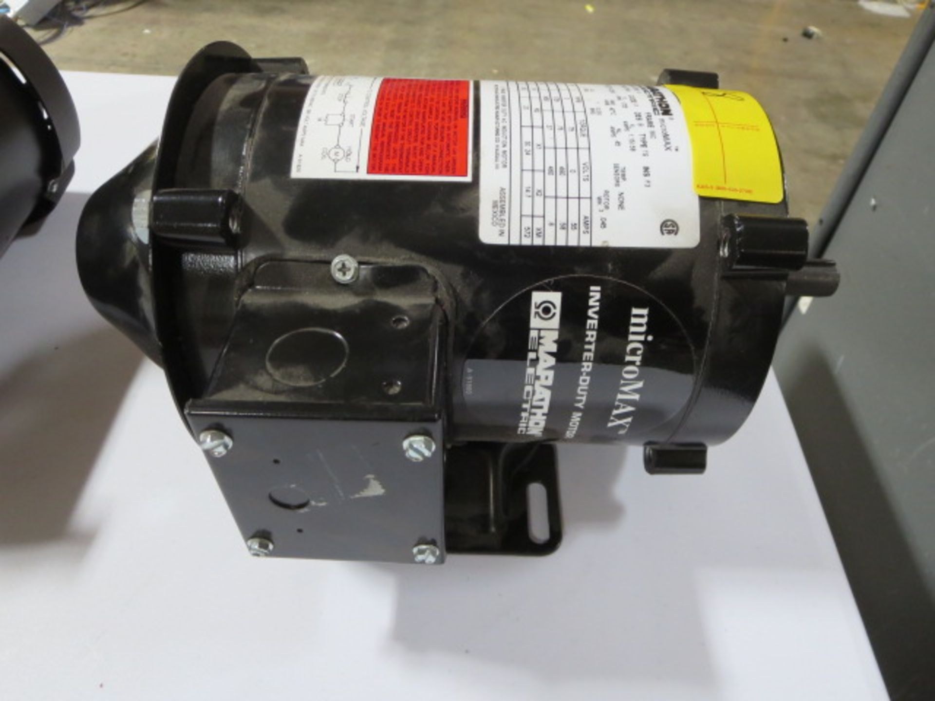 Lot 18 - Marathon Micro Max Inverter Duty Motor, 3 Phase, 120Hz, model FVN 56H17T2001 K