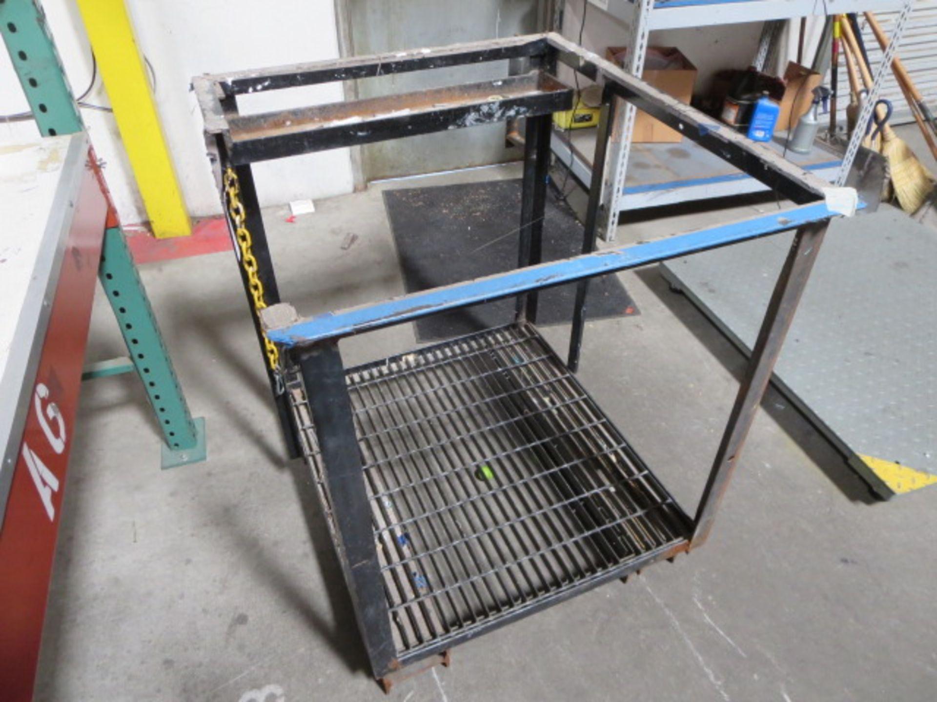 """Lot 612 - Fork Lift Man Basket, 39"""" x 35"""""""