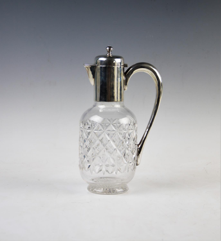 Lot 42 - An early Edwardian silver mounted claret jug, James Dixon & Sons Ltd, Sheffield 1901, plain polished