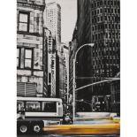 """Lot 58 - SALVO GENOVESI (Catania XX secolo) FOTOGRAFIA """"New York"""", firma e dedica nel retro, esemplare unico."""