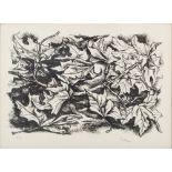 "Lot 5 - RENATO GUTTUSO (Bagheria (PA) 1911 - Roma 1987) LITOGRAFIA prova d'autore ""Foglie"". Misure: cm 52"