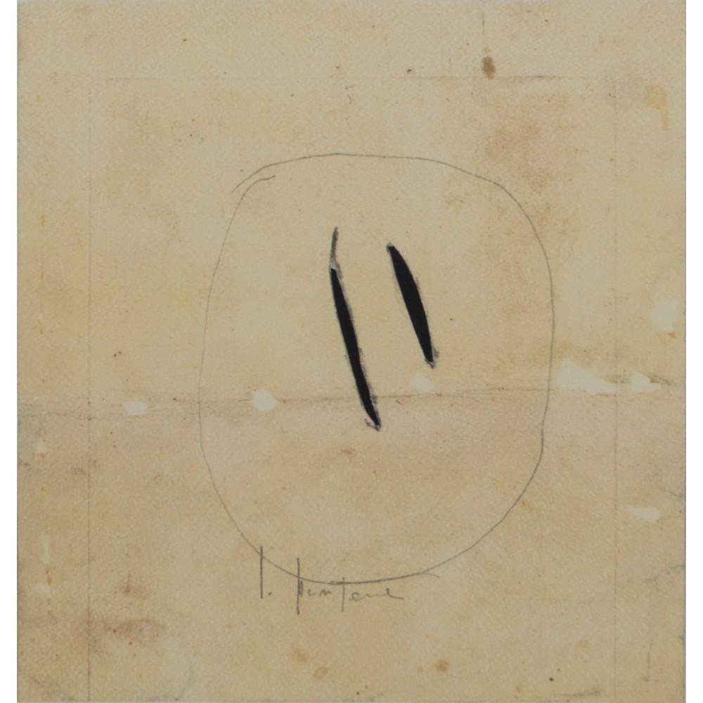 """Lot 40 - LUCIO FONTANA (Rosario 1899 - Comabbio 1968) SERIGRAFIA firmata su matrice """"Due Tagli"""" punzonatura a"""