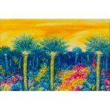 """Lot 51 - ANDREA QUARTO (Lucca 1959) OLIO su tela """"Paesaggio fantastico"""", firmato in alto a destra, nel"""