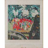 """Lot 14 - RENATO GUTTUSO (Bagheria (PA) 1911 - Roma 1987) LITOGRAFIA a colori """"La Protesta"""", esemplare XX/LXXV"""