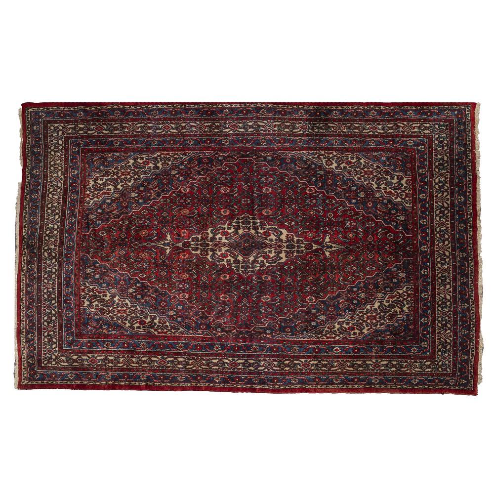 Lot 851 - TAPPETO Ardebil vecchia fattura, trama e ordito in cotone, vello in lana. Persia XX secolo Misure: