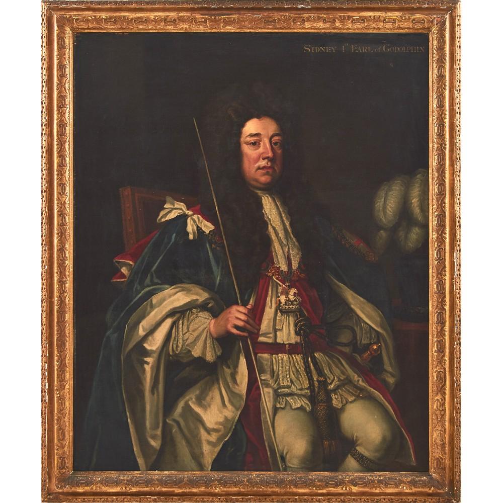 "Lot 1049 - GODFREY KNELLER (Lubecca 1646 - Londra 1723) OLIO su tela ""Sidney Godolphin, 1st earl of godolphin""."