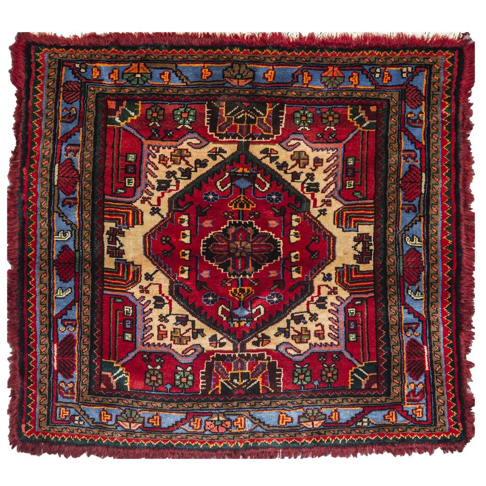 Lot 835 - TAPPETO Tooserkan, trama e ordito in cotone, vello in lana. Persia XX secolo Misure: cm 129 x 118