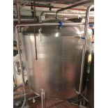 Lot 33 - Feldmeier 1800 Gallon Stainless Steel Vertical Storage Tank