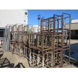 Lot 40 - LOT - STEEL STACKING BINS, SHELVING