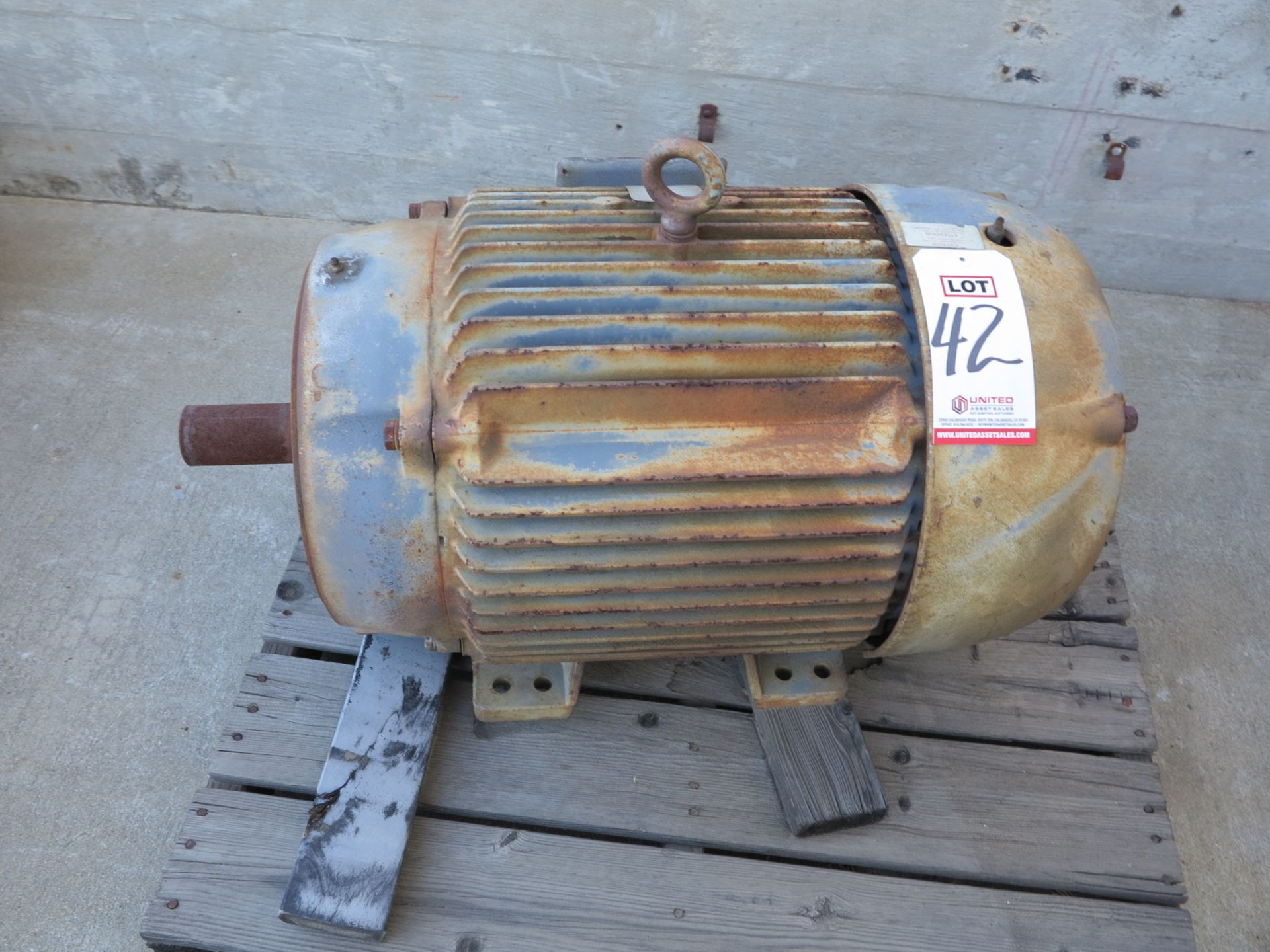 Lot 42 - BALDOR 50 HP MOTOR, MODEL CM4115T, S/N 12C52W274