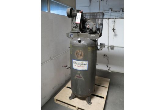 AMERICAN IMC 5 HP AIR COMPRESSOR, MODEL 116VL, 60 GAL TANK