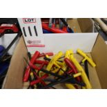 LOT - BONDHUS STANDARD AND METRIC T HANDLE ALLEN WRENCHES