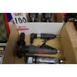 LOT - (3) ANGLE DIE GRINDERS: INGERSOLL-RAND MODEL M2A120RG4; INGERSOLL-RAND SR17G25794; PACIFIC