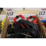 """LOT - 4"""" C CLAMPS, MILWAUKEE CLAMPS"""