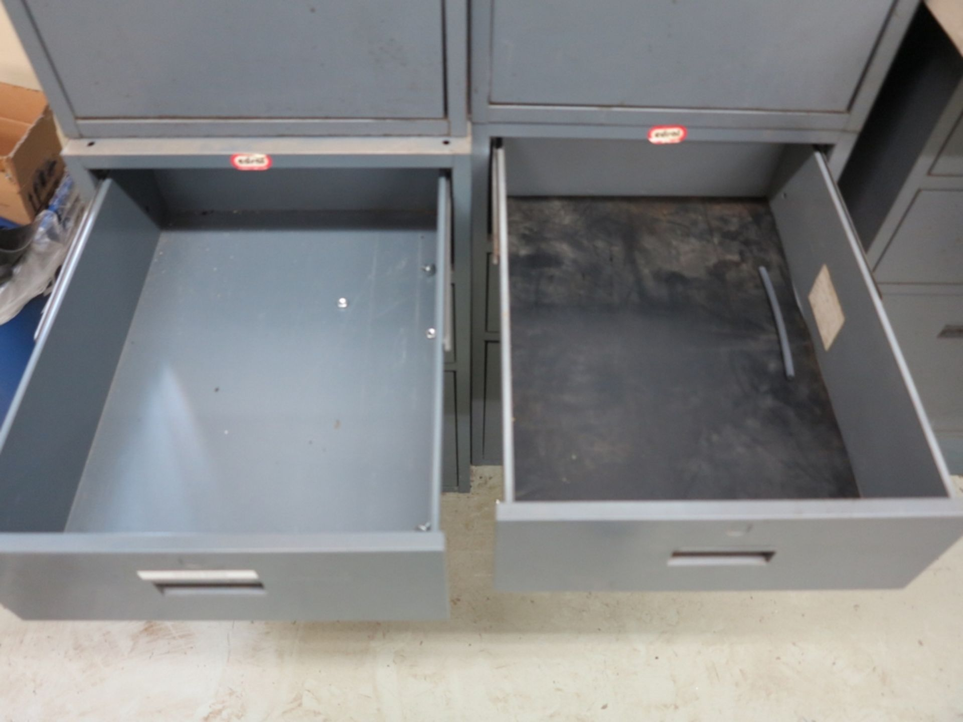 Lot 38 - LOT - (4) 3-DRAWER UNDER-DESK FILE CABINETS, W/ MISC CONTENTS