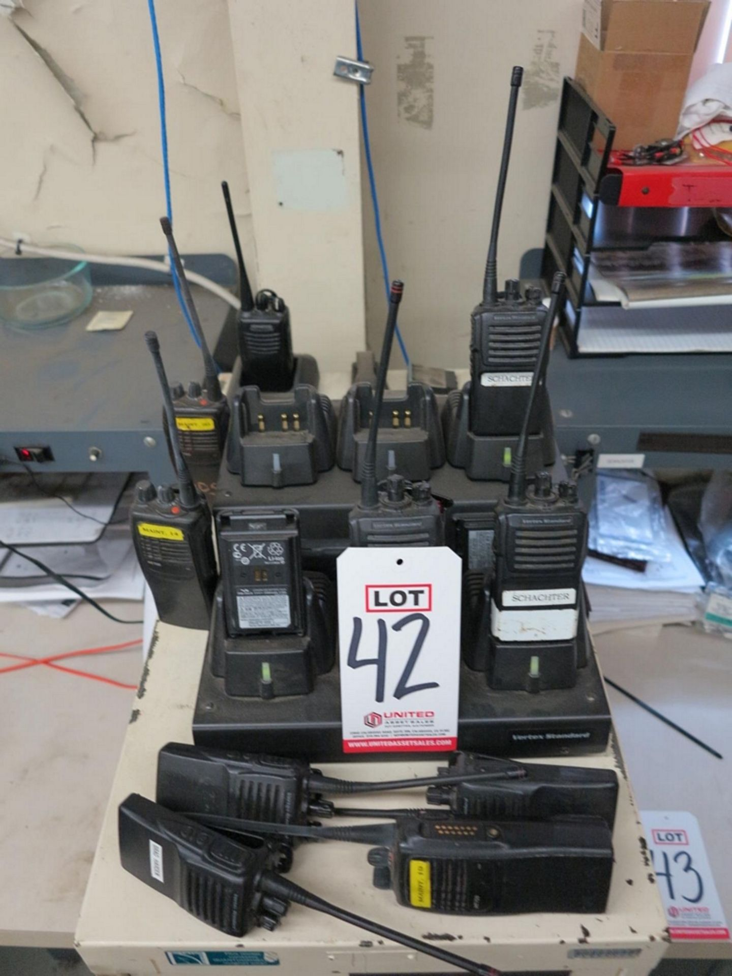 Lot 42 - LOT - 2-WAY COMMUNICATION RADIOS W/ CHARGING STATION